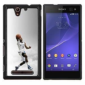 Qstar Arte & diseño plástico duro Fundas Cover Cubre Hard Case Cover para Sony Xperia C3 (Kentucky 11 Baloncesto)