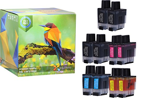 Ink Hero 10 Pack Ink Cartridges for Brother LC-41 DCP 110C 115C 120C 314CN Intellifax 1840C 1940CN 2440C MFC 210C 215C 3240C 3340CN 420CN 425CN 5440CN 5840CN 620CN 640CW 820CW (Cartridge Printer Lc41)
