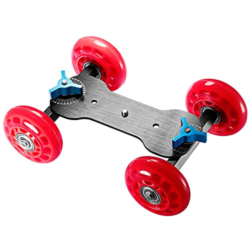 Neewer Tabletop Mobile Rolling Slider Dolly Car Skater Video