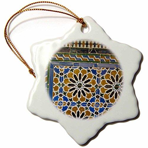 3dRose orn_139588_1 Spain, Seville, Palacio De La Condesa De Lebrija Eu27 Wbi1109 Walter Bibikow Snowflake Ornament, Porcelain, 3-Inch by 3dRose
