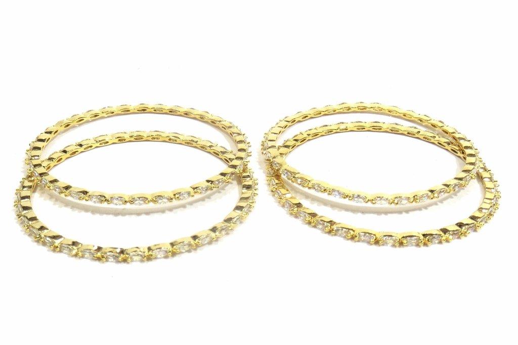 Jewelshingar Jewellery Fine Micro Plated Bangles For Girls ( 33357-jb-2.8 ) by Jewelshingar (Image #2)