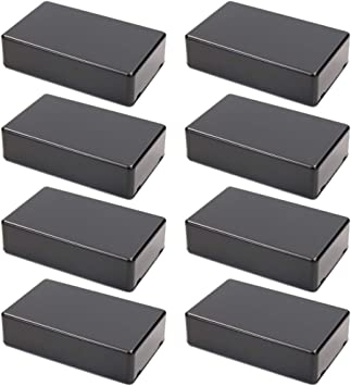Elcoho 10 Pieces Plastic Waterproof Boxes Junction Case Compatible with Electronic Project 3.94 /× 2.36 /× 0.98 Inches Black