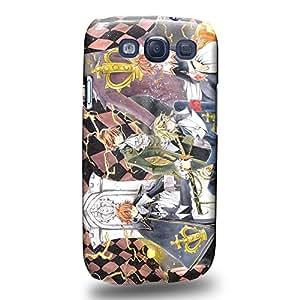 Case88 Premium Designs Tsubasa Chronicle Syaoran Skaura Kurogane Fai D. Flowright Mokona Modoki 1388 Carcasa/Funda dura para el Samsung Galaxy S3