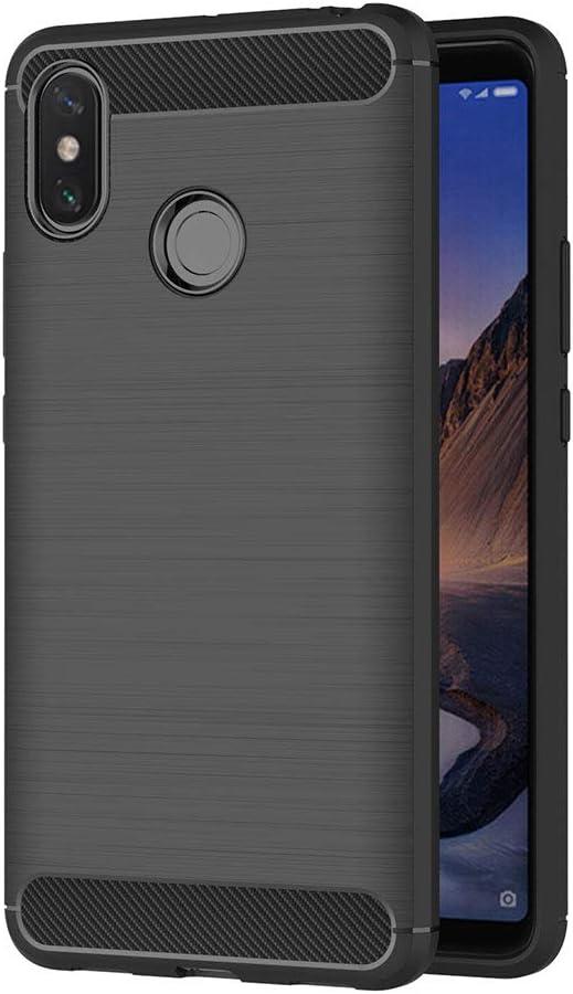 AICEK Funda Xiaomi Mi MAX 3, Negro Silicona Fundas para Xiaomi Mi MAX 3 Carcasa Xiaomi Mi MAX 3 Fibra de Carbono Funda Case (6,9 Pulgadas)