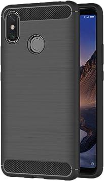 AICEK Funda Xiaomi Mi MAX 3, Negro Silicona Fundas para Xiaomi Mi ...