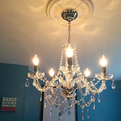 Saint Mossi Modern Contemporary Elegant K9 Crystal Glass Chandelier Pendant Ceiling Lighting fixture - 5 Lights by Saint Mossi (Image #2)