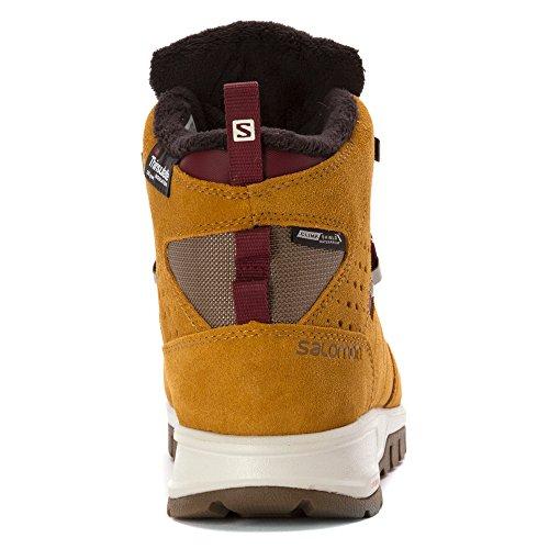 SalomonUtility Pro TS CSWP - zapatillas de trekking y senderismo de media caña Hombre rawhide-screw-pinot noir