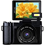 Digital Camera 24.0 MP Vlogging Camera Full HD 1080P 3.0 Inch Camera with Flip Screen Retractable Flashlight