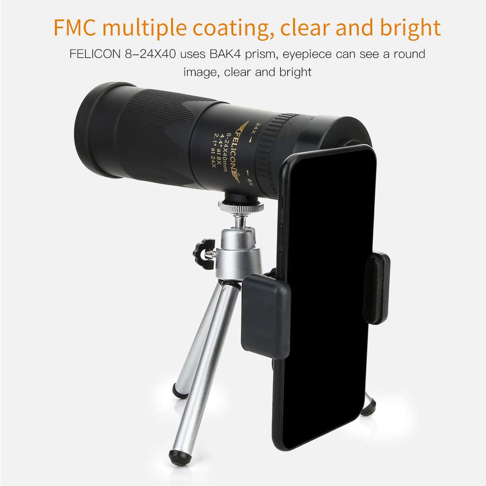 8-24X40 Dual Focus Optics Monocular Telescope,Our Best Value Birdwatching and Hiking Monocular,Waterproof,Light Weight,High Powered by HUIGE