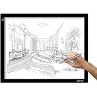 A3 Drawing Pad, AGPtEK® Adjustable Brightness Tattoo Tracing Pad, LED Art Graphics Table Light Box for Aniamtion, Sketching, Designing, Stencilling, Drawing,Sewing