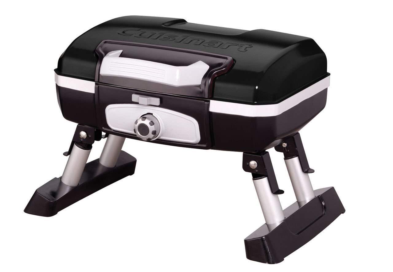 Cuisinart CGG-180TB Petit Gourmet Portable Tabletop Gas Grill, Black (Renewed)