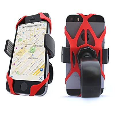 Vibrelli Universal Bike Phone Mount Holder. Fits any Smart Phone: iPhone 6 Plus Bike Mount, iPhone 6S (+), 5S / 5 etc.. (all iPhones) Samsung Galaxy S5/S4/S3, Google Nexus, Nokia, Motorola. Bicycle Handlebar (& Motorcycle) Compatible Cell Phone Cradle