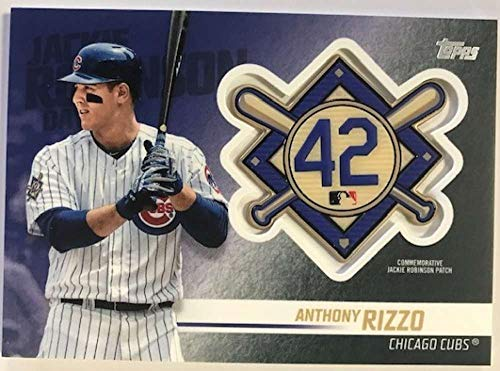 2018 Topps Update and Highlights Baseball Series Jackie Robinson Day Manufactured Medallion Patch #JRP-AR Anthony Rizzo Official MLB Trading Card