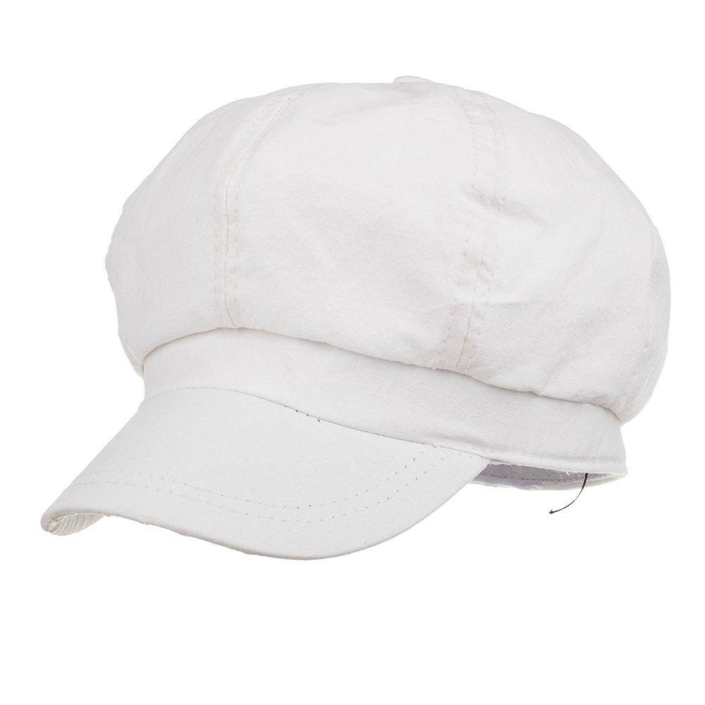 Qiabao Women's Summer Cotton 8 Panel Newsboy Cap Gatsby Cabbie Hat