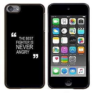 Negro motivación combate de boxeo Zen- Metal de aluminio y de plástico duro Caja del teléfono - Negro - iPod Touch 6