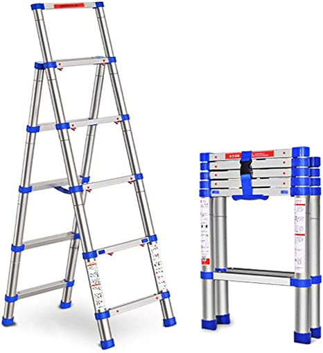 Telescópica extensible escalera telescópica escalera de extensión de espiga de aleación de aluminio, plegable Escalera retráctil Técnica doméstica lxhff: Amazon.es: Bricolaje y herramientas