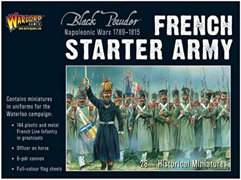 Napoleonic French Imperial Guard Foot Artillery firing 6-pdr Black Powder Wargaming Miniatures Warlord Games