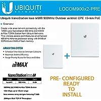 Ubiquiti locoM9 2-PACK PRE-CONFI NanoStation 900MHz Outdoor airMAX CPE 15+km PoE