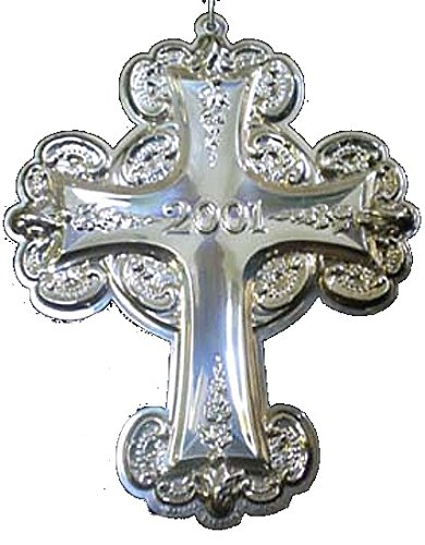 (2001 Wallace Grande Baroque Cross Sterling Christmas Ornament 6th Edition)