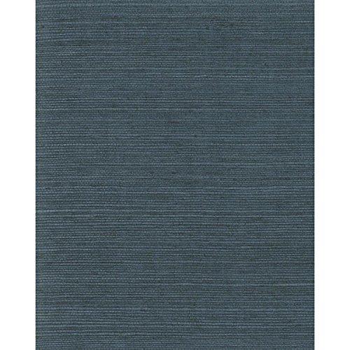 York Wallcoverings VG4405 Plain Grass Wallpaper, Blues - Decorator Grass Cloth Wallpaper