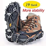 Crampons Universal Flexible Anti-Slip Ice Grips Snow Traction Cleats Ice Spikes Crampon Stainless Steel Chain Climbing Hiking