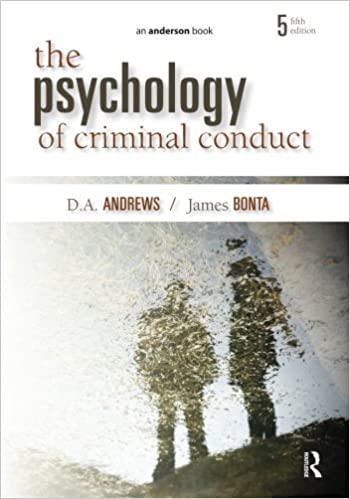 Book The Psychology of Criminal Conduct by D.A. Andrews (2010-04-22)