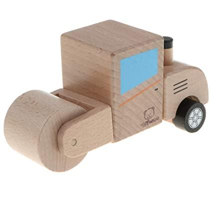 Amazoncom Kesoto Handmade Wooden Toy Truck Natural Wood Car Model