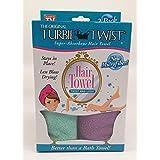 Turbie Twist Microfiber Hair Towel (2 Pack) Aqua-Purple