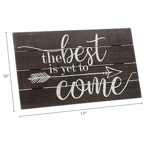 """Barnyard Designs The Best Is Yet To Come Rustic Wood Hanging Sign Decorative Wall Decor 17"""" x 10"""" by Barnyard Designs (Image #5)"""