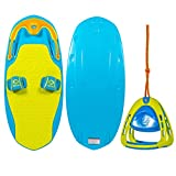 ZUP You Got This 2.0 Board and 2.0 Handle Combo, All-in-One Kneeboard, Wakeboard, Wakeskate, and Wakesurf Board for All Ages, Lime
