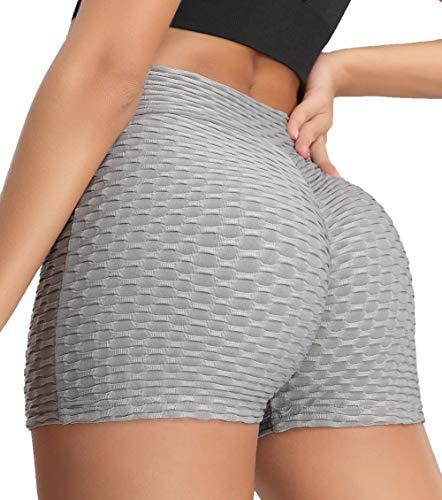 KIWI RATA Vrouwen Scrunch Booty Shorts Honingraat Ruched Butt Lift Push Up Getextureerde Anti Cellulite Shorts TIK Tok…
