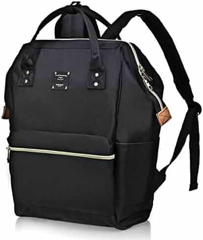 BebamourCasual College Backpack Lightweight Travel Wide Open Backpack for Women&Men
