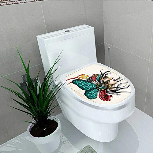 (Philip C. Williams Decal Wall Art Decor Art Gypsy Gambler Man Third Eye Symbol Pack Spiritual Bathroom Creative Toilet Cover Stickers W13 x L13)