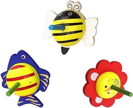 Toyvian 6 Piezas de Madera de Dibujos Animados de Animales ...