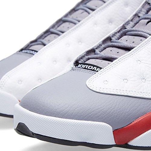 Jordan Mens Air Jordan 13 Retro Vit / Sant Röd / Cement Grå / Svart 414.571-126 9
