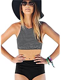 Women Girls 2 Piece Swimsuits High Waisted Bathing Suits...