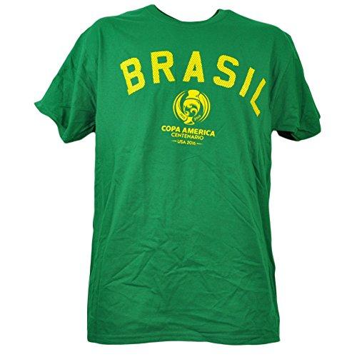 Brasil Copa America Centenario USA 2016 Tshirt Tee Mens Soccer Short Sleeve MED