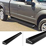 iBoard Running Boards (Nerf Bars | Side Steps | Step Bars) For 2015-2017 Ford F150 Super Cab Pickup 4-Door / 2017 Ford F-250/F-350 Super Duty | (Black Powder Coated Running Board Style)