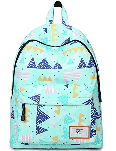 52d9b8db825 Water Resistant School Backpack for Teens, Cute Geometry Laptop Bag Girls  Bookbag (Green) - Buy Online in UAE.   bloomstar Products in the UAE - See  Prices, ...