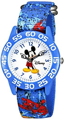 Disney Kids' W002458 Mickey Mouse Time Teacher Analog Display Analog Quartz Blue Watch