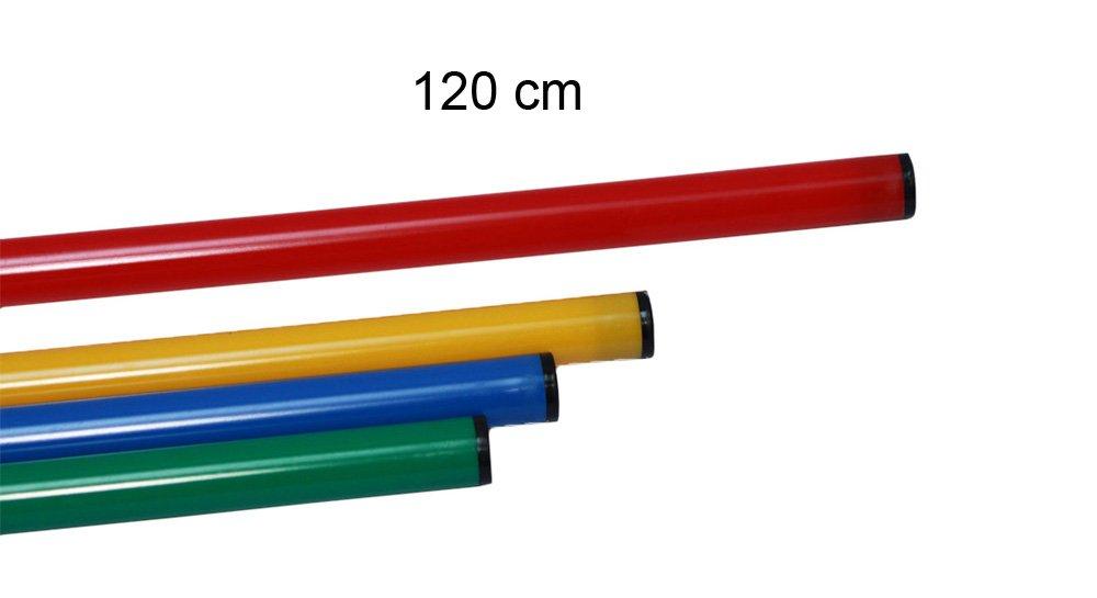 lot de 10 jalons color/és en plastique // jalons de gymnastique // jalons dentra/înement // multi-fonctions rouge 10x 120r 120 cm