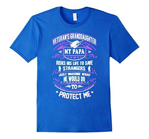 Men's Veteran Granddaughter Shirt T-Shirts Gift Veterans Day 2016 Medium Royal Blue