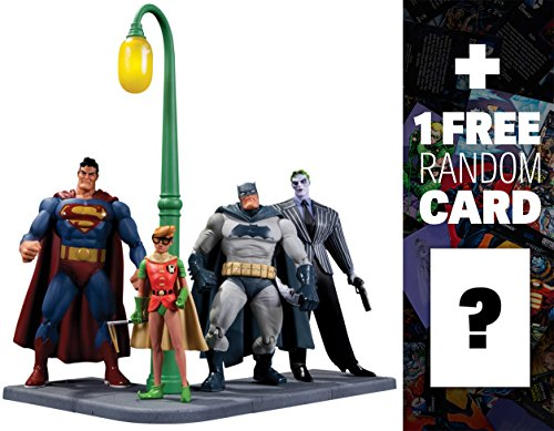 Batman, Robin, Superman, and The Joker: DC Collectibles The Dark Knight Returns Series + 1 FREE Official DC Trading Card (Dark Knight Robin)