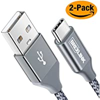 2-Pack BrexLink USB C to USB A Nylon Fast Charging Cord