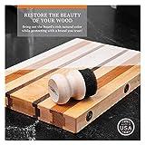 CLARK'S Oil & Wax Round Applicator (New V2 Design!) | USA Maple Construction | Cutting Boards - Butcher Blocks - Wood Utensils