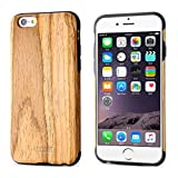 iPhone 6S Case,iPhone 6 Case,BELK Soft Wood Case Series - Slim Bumper Wood Back Cover for iPhone 6 & iPhone 6S - 4.7 inch, Ultra Flexible and Snug Fit Rubber Hybrid Thin Fit Back Case - Teak