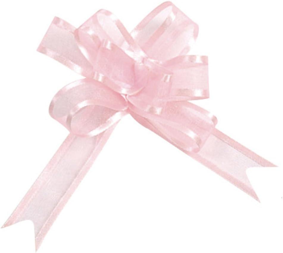 Santex 5 Organzaschleifen Ziehschleifen ca 14x10cm rosa