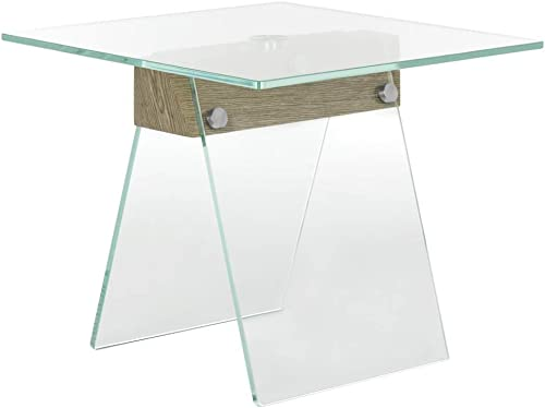 Safavieh Home Collection Modern Loft Glass Grey Accent Table