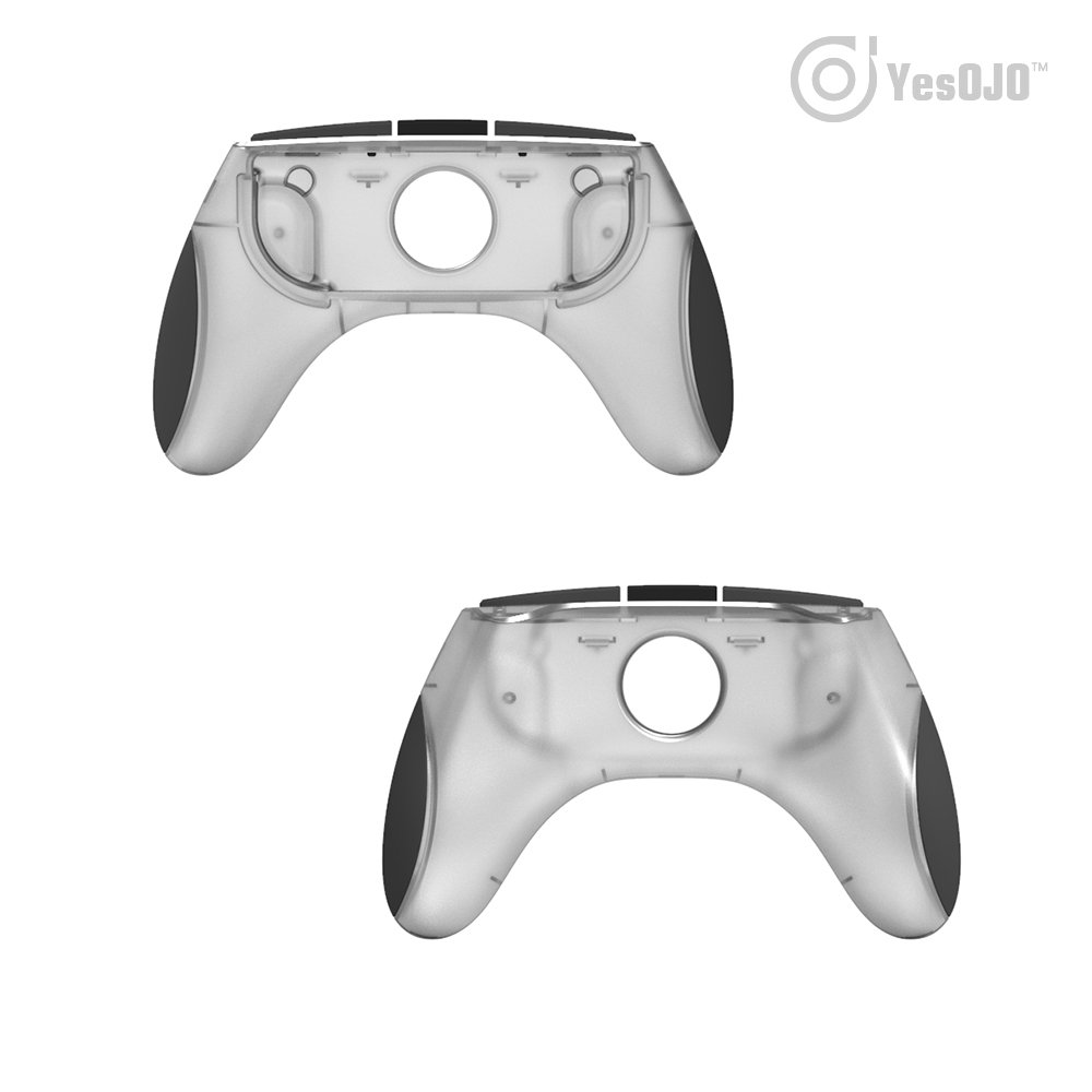 Jelly Joy-Con Grips for Nintendo Switch Translucent Frosted Plastic Wear-resistant Joy-con Handle for Nintendo Switch(Grey) by YesOJO