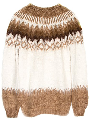 Gamboa Alpaca Island Sweater - Brown and White - Mens Sweater Alpaca